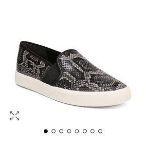 Vince Blair Snakeskin Slip-on Sneakers Size 7.5